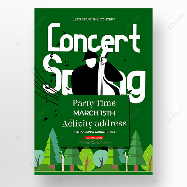 dark green spring concert poster