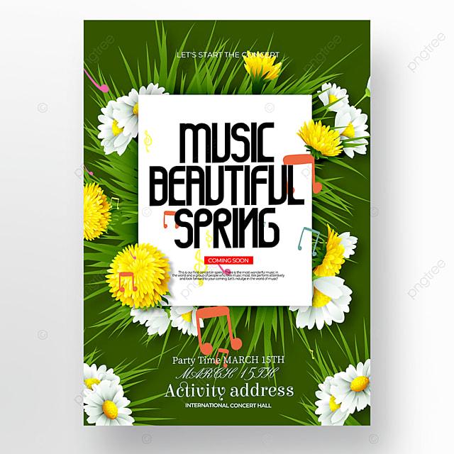green creative spring concert poster
