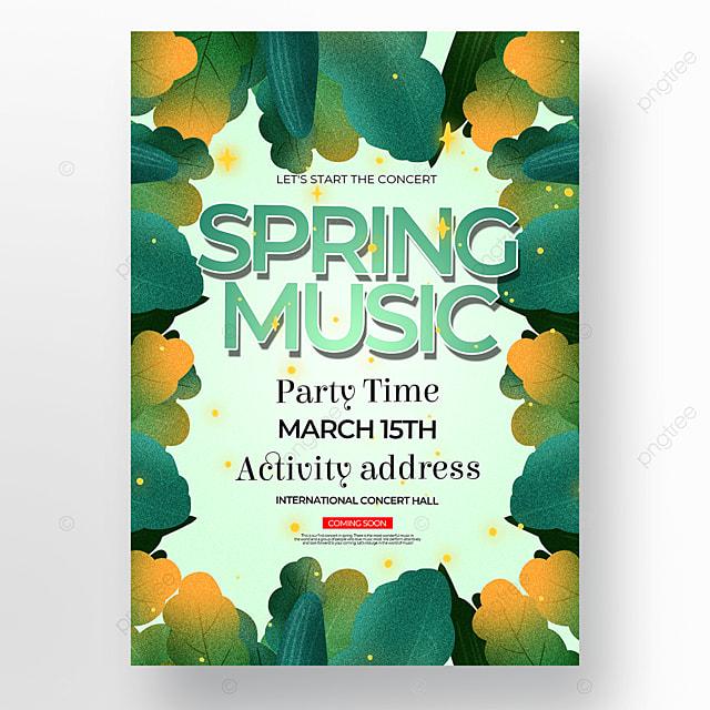 light green background spring concert poster