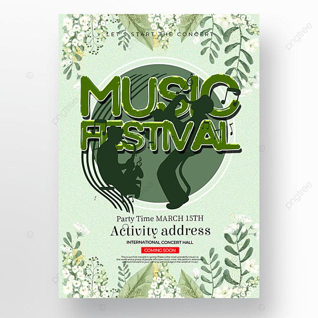 light green spring concert poster