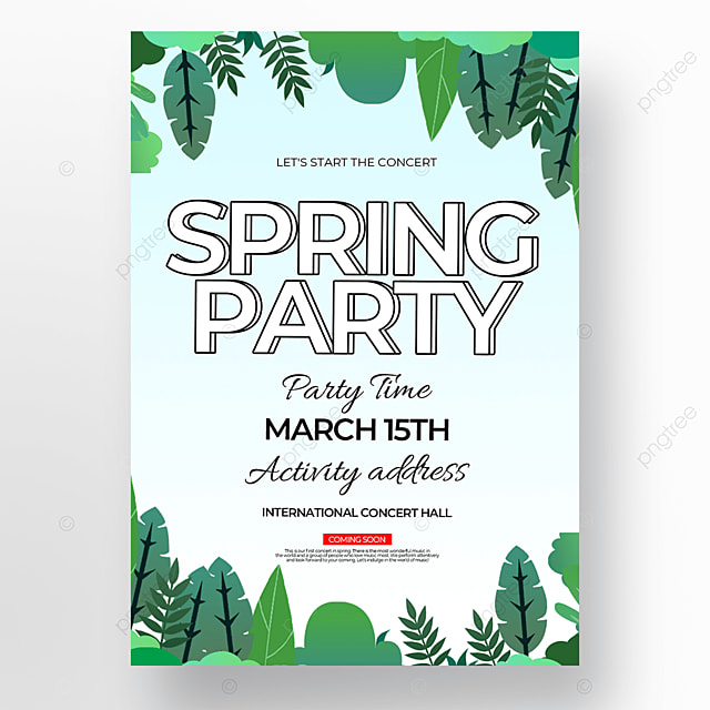 three dimensional word effect creative spring concert poster