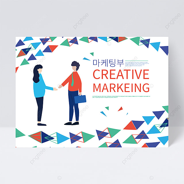 triangle creative creative cooperation business cartoon character flyer