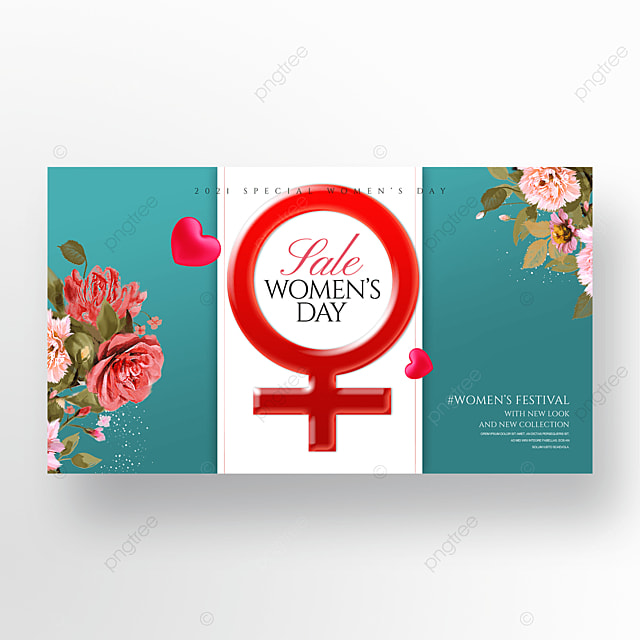 38 womens day cartoon flower three dimensional promotional banner