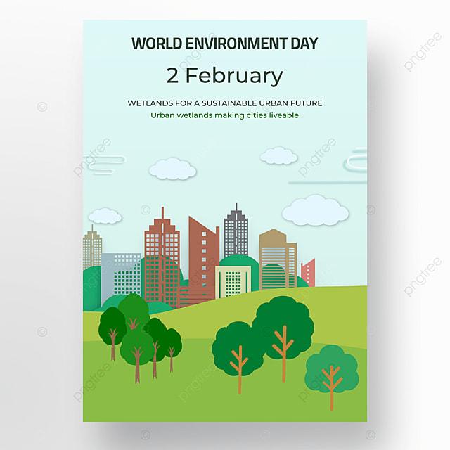 cartoon building environmental protection world wetland day