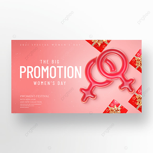 creative fashion gift 38 womens day promotion banner