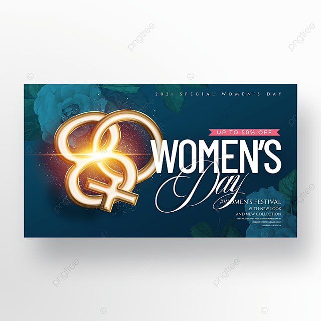 fashion golden three dimensional womens day promotion banner