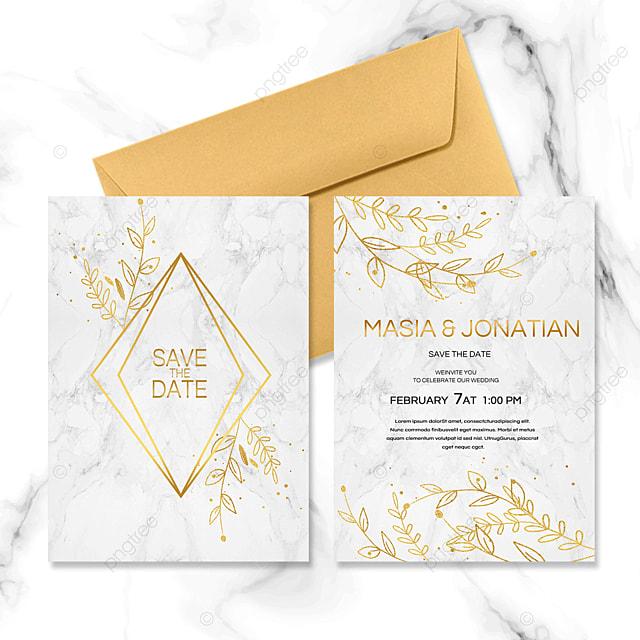 golden marble wedding invitation letter