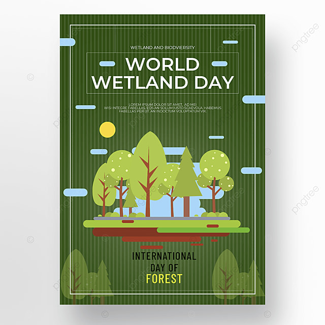 green forest world wetland day poster