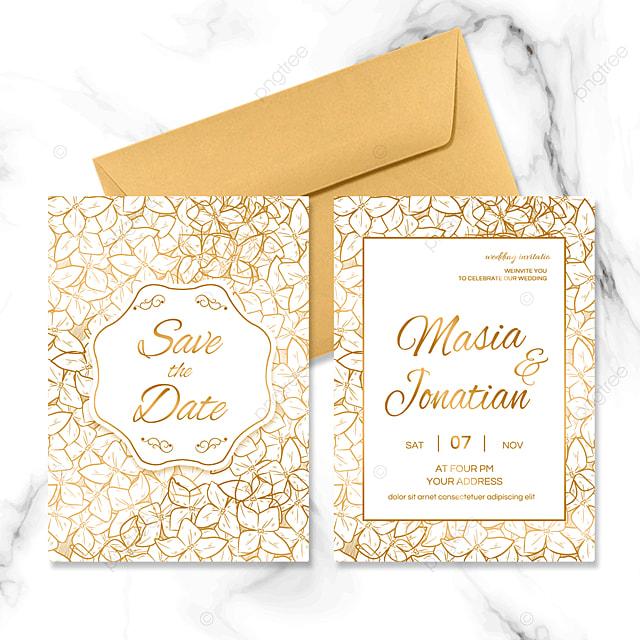 luxury golden wedding invitation