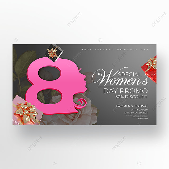 personality three dimensional romantic 38 womens day promotion banner
