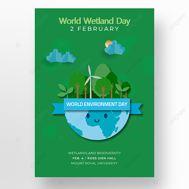 poster green background world wetland day