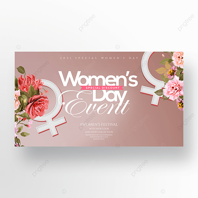 romantic cartoon flowers three dimensional 38 womens day promotion banner