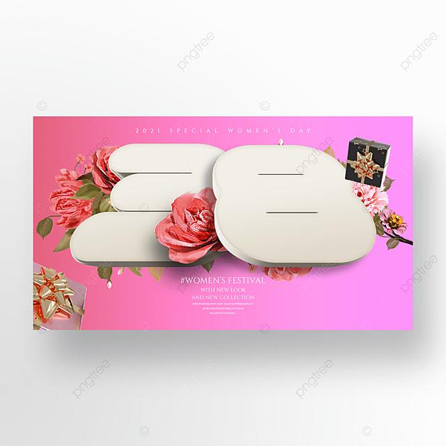 romantic gift flower three dimensional valentine holiday banner