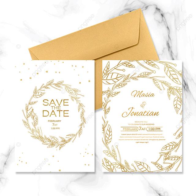 simple golden wedding invitation