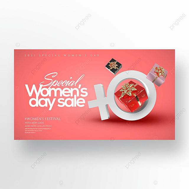 three dimensional creative 38 womens day gift promotion banner