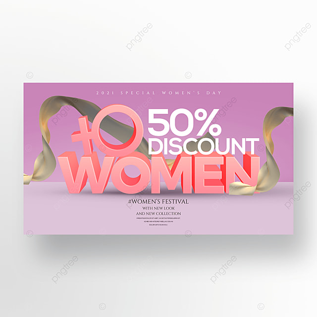 three dimensional fashion 38 womens day promotion banner