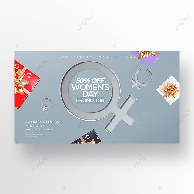three dimensional gift 38 womens day holiday promotion banner