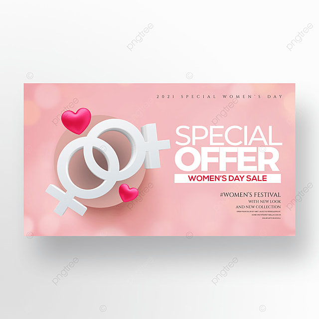 three dimensional romantic 38 womens day holiday promotion banner