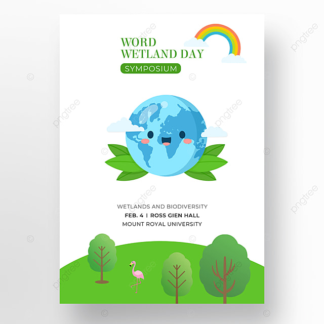 world wetland day poster on white background