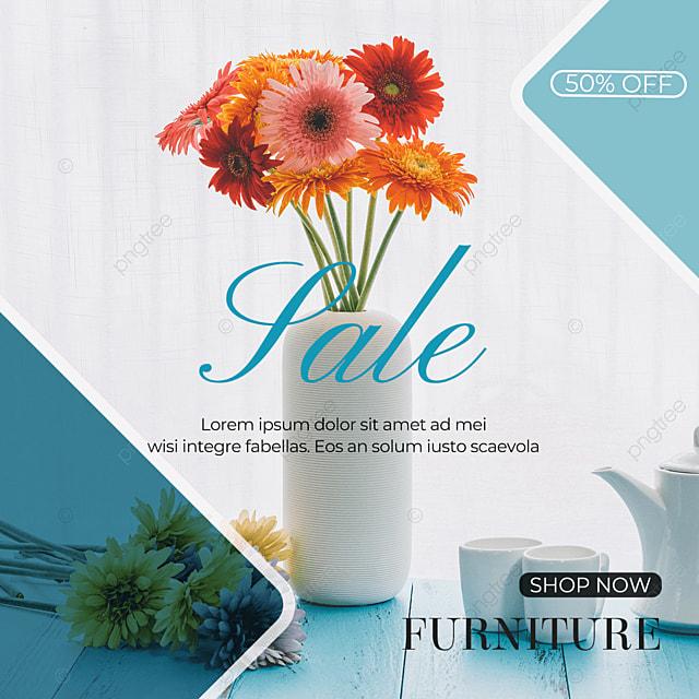 blue background vase furniture social media