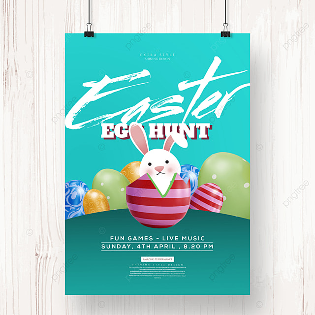 creative easter cartoon holiday poster