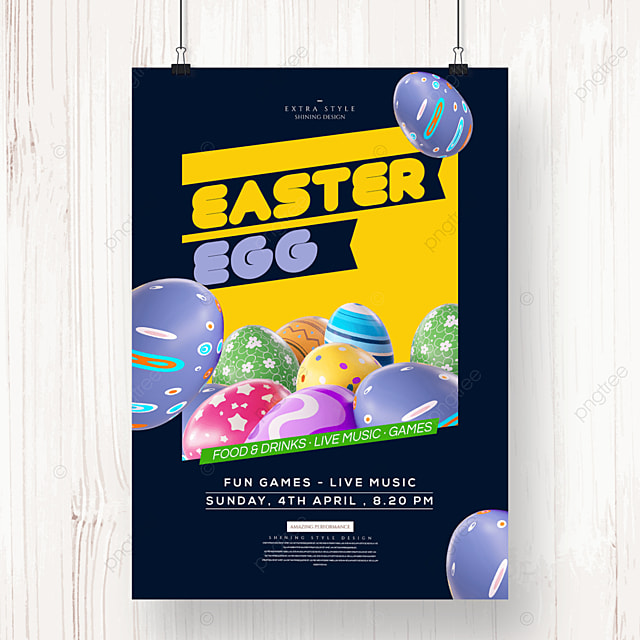 easter creative cartoon holiday poster