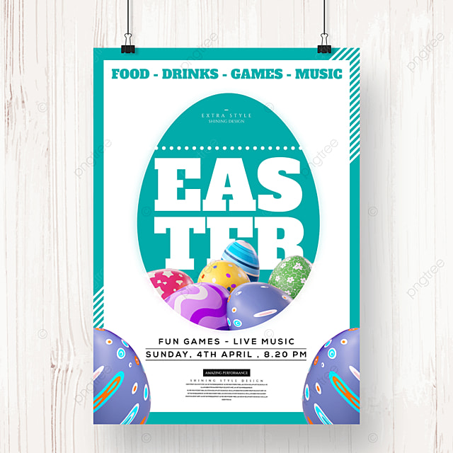 easter egg silhouette creative holiday poster
