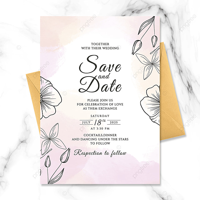 exquisite fashion hand painted flowers watercolor blooming wedding invitation