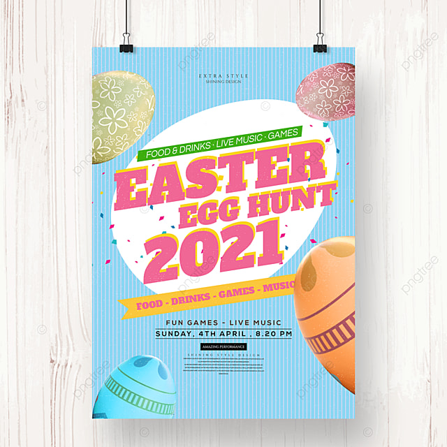 fashion color easter cartoon holiday poster