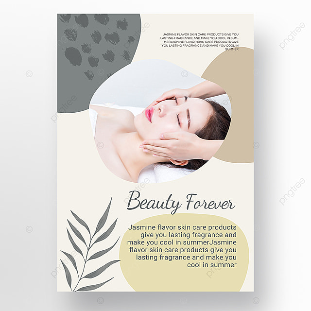 green simple texture brush morandi personal beauty care poster promotion template