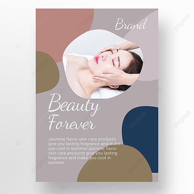 purple simple texture morandi personal beauty care poster promotion template
