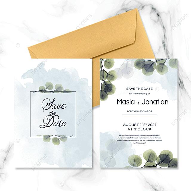 simple and fresh wedding invitation