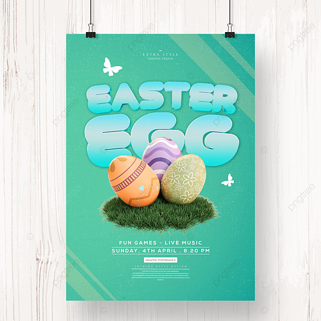 simple cartoon easter festival poster
