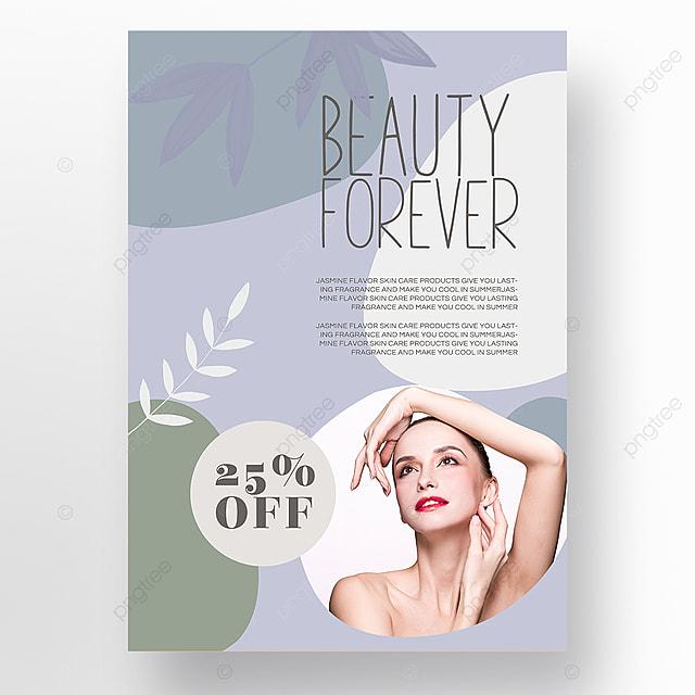simple texture blue color block morandi personal beauty care poster promotion template