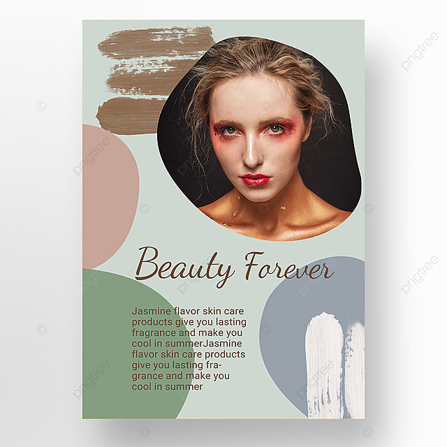 simple texture cyan color block morandi personal beauty care poster promotion template