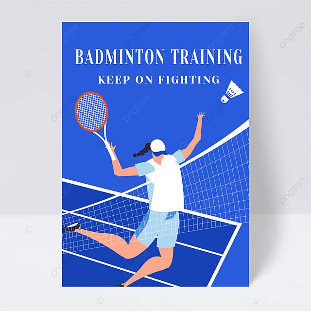 badminton training class enrollment leaflet