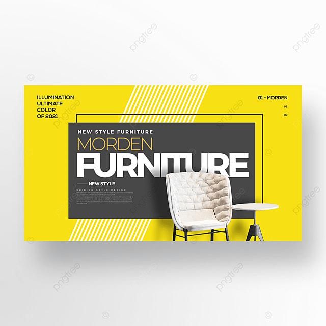 fashion furniture trend color web banner