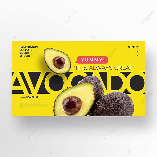 fashion trend color avocado web banner