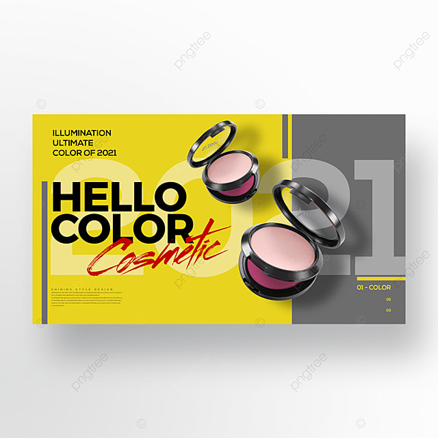 fashion trend color makeup promotion banner