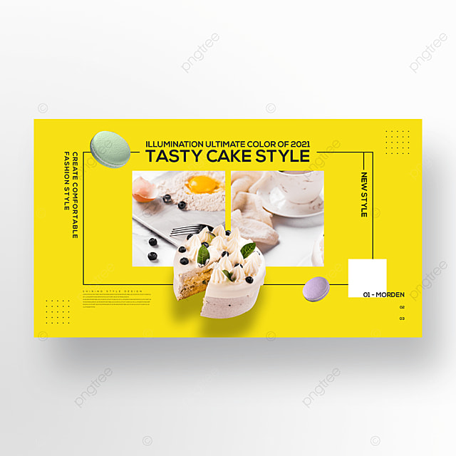 gourmet cake trend color simple fashion banner