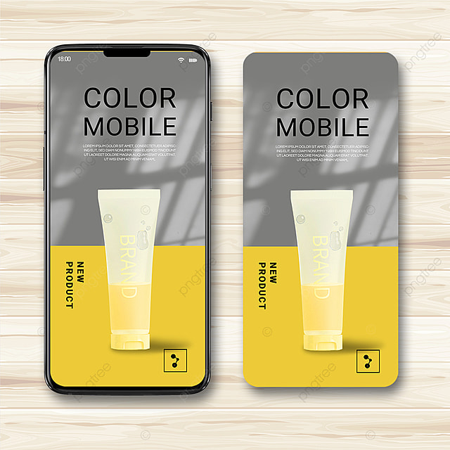 gray and yellow texture simple 2021 trend promotion template