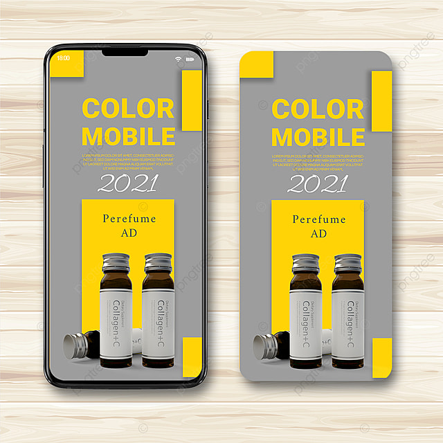 gray yellow texture 2021 trend promotion template