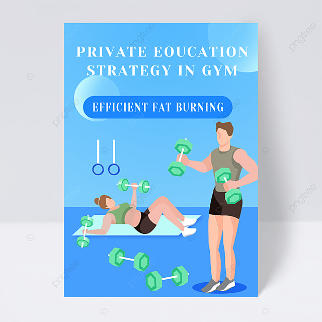 gym exercise flyer