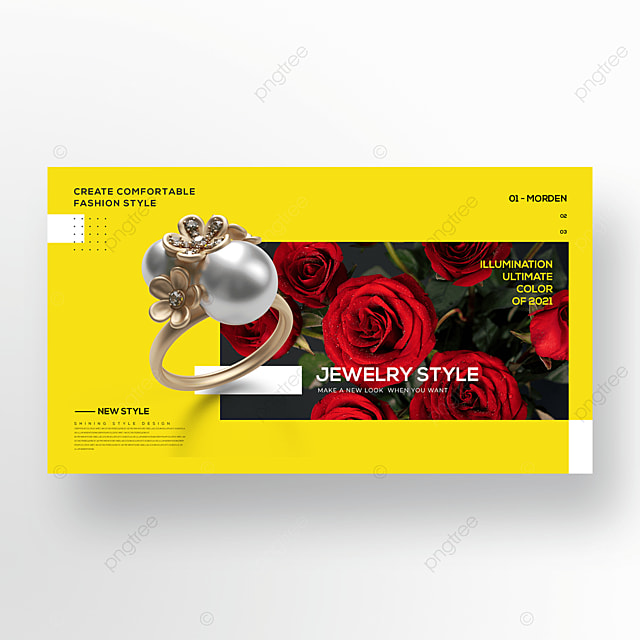 jewelry trend color web banner