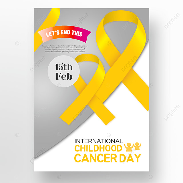 off white international childrens cancer day poster