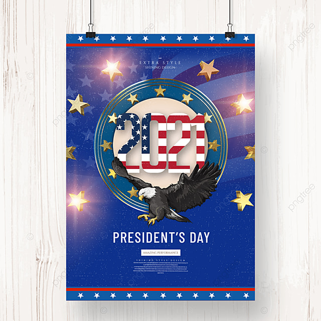 personality retro minimalist american presidents day holiday poster