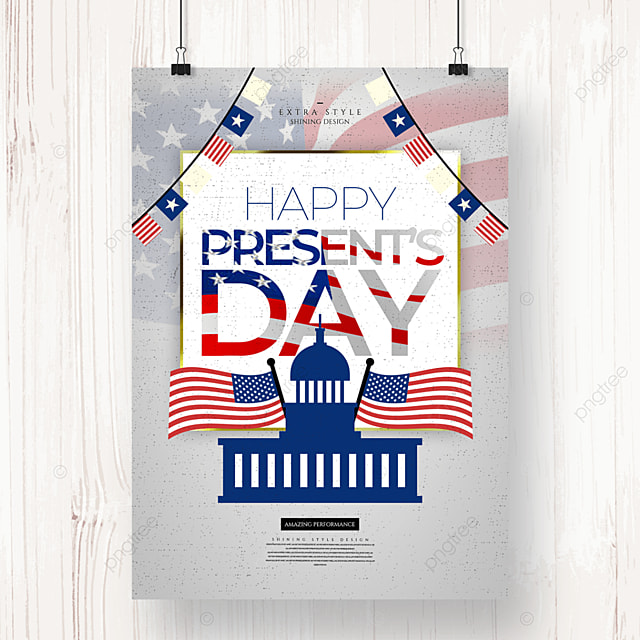 personality silhouette retro american presidents day holiday poster