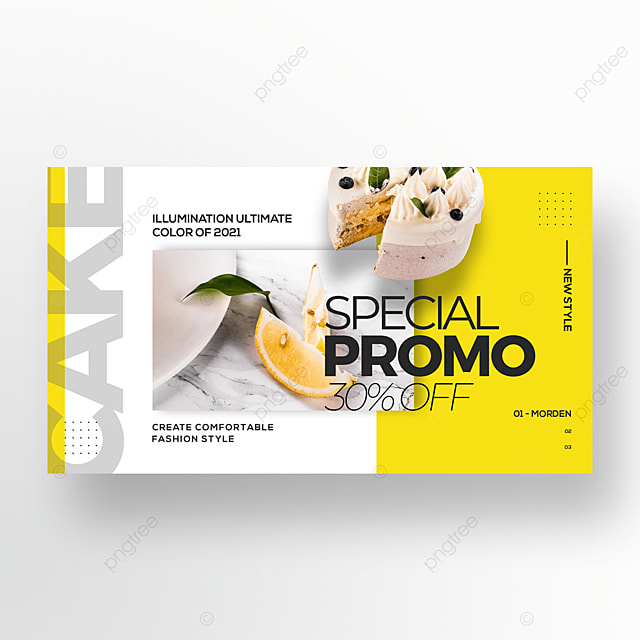 personality trend color gourmet cake promotion banner
