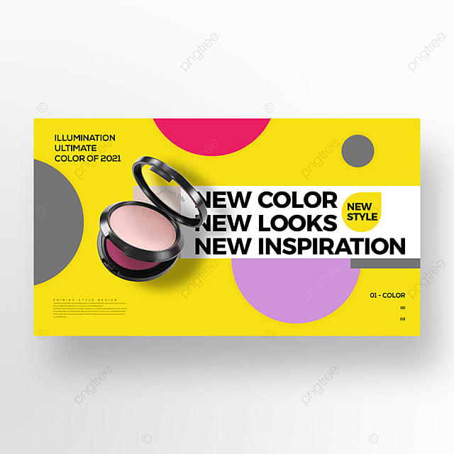 personality trend fashion color makeup promotion banner