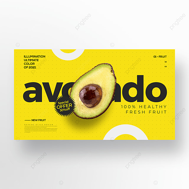 simple and stylish color fruit avocado web banner